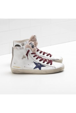 GOLDEN GOOSE Francy White Furry Tongue