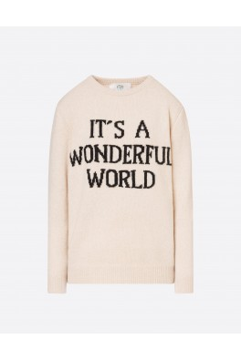 ALBERTA FERRETTI Wonderful World Sweater Cream