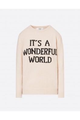 ALBERTA FERRETTI Wonderful World Sweater Cream