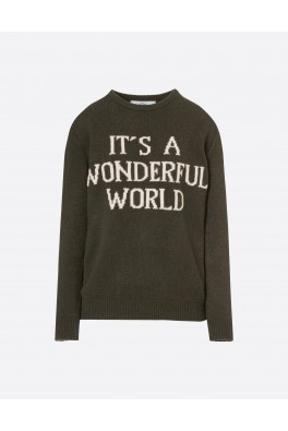 ALBERTA FERRETTI Wonderful World Sweater Military