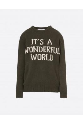 ALBERTA FERRETTI Wonderful World Sweater Military