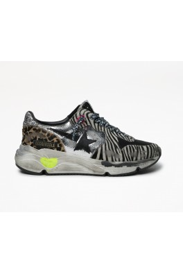 GOLDEN GOOSE Running Silver Zebra Black brown