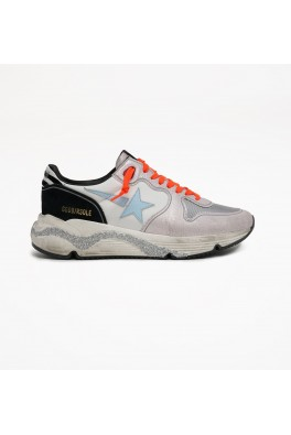 GOLDEN GOOSE Running Sole Nylon Upper Leather Star Zebra Print Heel