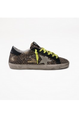 GOLDEN GOOSE Superstar Leopard Suede Upper Suede Star Leather Heel