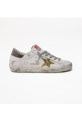 GOLDEN GOOSE Superstar Leather Upper Glitter Star