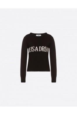 ALBERTA FERRETTI Life is a Dream Black Sweater
