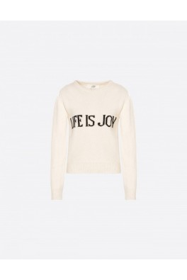 ALBERTA FERRETTI Life is a Joy Ivory Sweater