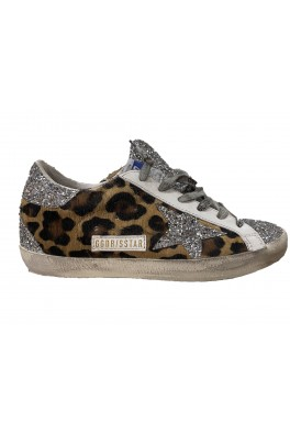 GOLDEN GOOSE Superstar Classic Leopard and Glitter