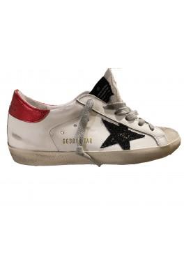 GOLDEN GOOSE Superstar Classic Red Lizard Heel