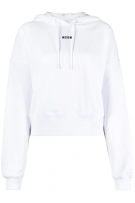 MSGM White Sweatshirt With Hoodie