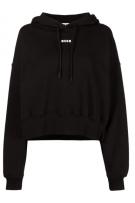 MSGM Black Sweatshirt With Hoodie