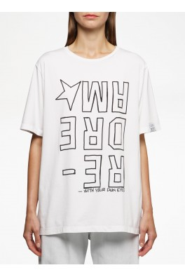 GOLDEN GOOSE T-shirt AIRA Boyfriend Inverted DREAMER