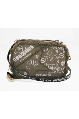 GOLDEN GOOSE STAR BAG WASHED KUROKI BODY SERIGRAPH WRITINGS