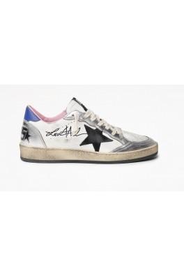 GOLDEN GOOSE Ballstar Leather Signature Upper Suede Star SIGNATURE UPPER SUEDE STAR