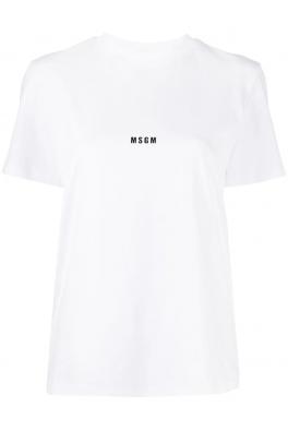 MSGM White T-shirt Logo