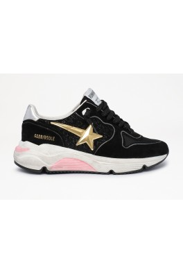 RUNNING SOLE LEATHER WITH LEOPARD EFFECT UPPER 3D STAR SUEDE SPUR