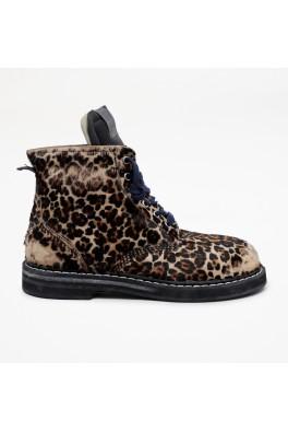 GOLDEN GOOSE ELE Leopard Horsy Upper
