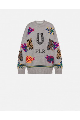 PHILOSOPHY Wool Sweater with Inlay Works