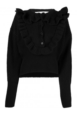 PHILOSOPHY Black TOP with Rouches