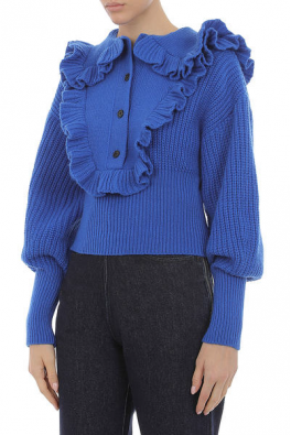 PHILOSOPHY Blue TOP with Rouches